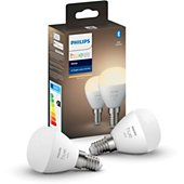 Ampoule connectée Philips Hue White E14x2 Luster 5.5W