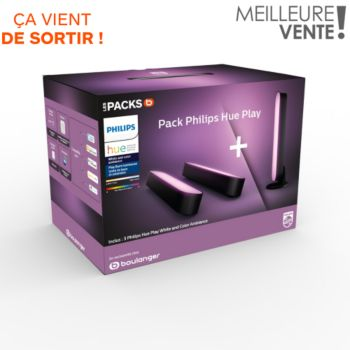 Philips Pack exclu Hue play noir x3