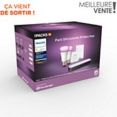 Pack Philips Pack exclu Démarrage E27 W&C+Hue play