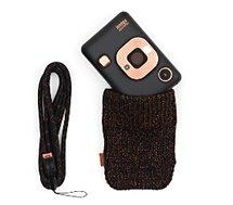 Appareil photo Instantané Fujifilm  Mini Liplay Noir + dragonne + Etui