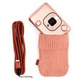 Appareil photo Instantané Fujifilm  Mini Liplay Blush Gold + dragonne + Etui