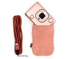 Appareil photo Instantané Fujifilm  Mini Liplay Blush Gold + dragonne + Etui