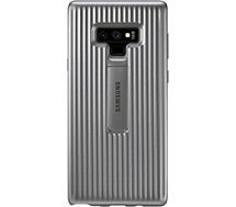 Coque Samsung Renforcée Note 9 silver fonction stand