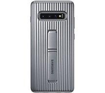 Coque Samsung  S10+ Antichoc Fonction Stand argent