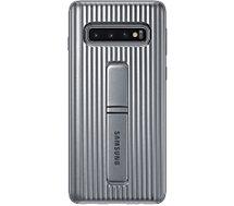 Coque Samsung S10 Antichoc Fonction Stand argent