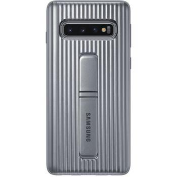 Samsung S10 Antichoc Fonction Stand argent