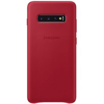 Samsung S10+ Cuir rouge bordeau