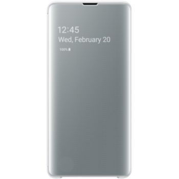 Samsung S10+ Clear View Cover blanc