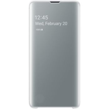 Samsung S10 Clear View Cover Blanc