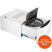 Lave linge compact LG TWINWASH FM27K5WH
