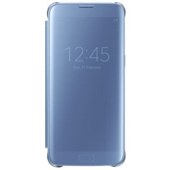 samsung clear view cover galaxy s7 edge bleu accessoire smartphone samsung boulanger. Black Bedroom Furniture Sets. Home Design Ideas