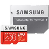 Carte Micro SD Samsung  Micro SD 256Go EVO PLUS  + adapt