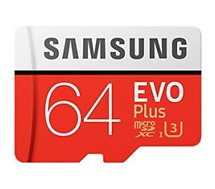 Carte Micro SD Samsung 64Go EVO PLUS+ adaptateur