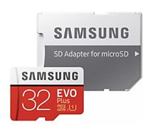 Carte Micro SD Samsung Micro SD 32Go EVO PLUS  + adapt