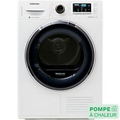 Sèche linge pompe à chaleur Samsung DV80M52103W/EF