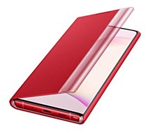 Etui Samsung  Note 10 Clear View Cover rouge