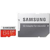 Carte Micro SD Samsung 64GO EVO PLUS + Adaptateur SD HA
