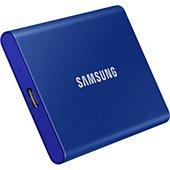 Disque SSD externe Samsung portable T7 500go bleu indigo