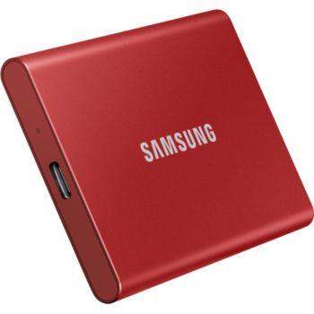 Samsung portable T7  2TO  rouge métallique