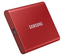 Disque SSD externe Samsung  portable SSD T7  1TO  rouge métallique