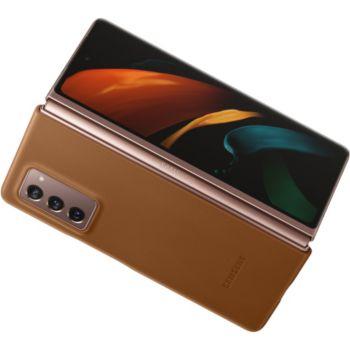 Samsung Fold 2 Cuir brun