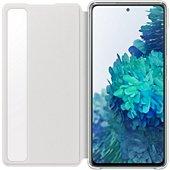 Etui Samsung S20 FE Clear view cover blanc