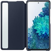 Etui Samsung S20 FE Clear view cover bleu