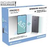 Smartphone Samsung Pack A51 Noir + Powerbank 25W