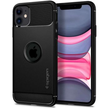 Spigen iPhone 11 Rugged Armor noir mat