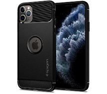 Coque Spigen  iPhone 11 Pro Rugged Armor noir mat