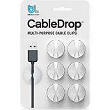 Range câble Bluelounge  CableDrop mini blanc Pack de 9
