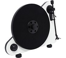 Platine vinyle Pro-Ject  Vertical Turnatable E OM5 droitier blanc