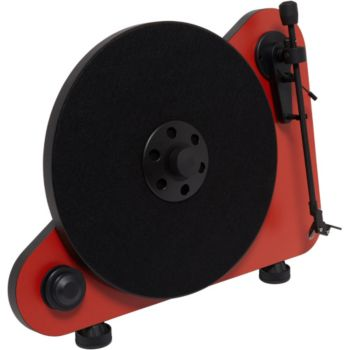 Pro-Ject VERTICAL TURNTABLE E OM5 DROITIER ROUGE