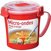 Mug Sistema soupe micro-ondes à clips 656 ml