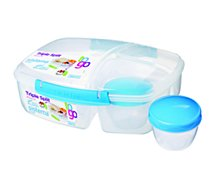 Lunch box Sistema To Go 2L 3 compartiments + boîte yaourt