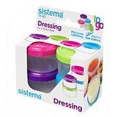 Bocal Sistema à sauce Dressing To Go X 4