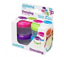 Bocal Sistema à sauce Dressing To Go X 4