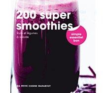 Livre de cuisine Marabout 200 super Smoothies