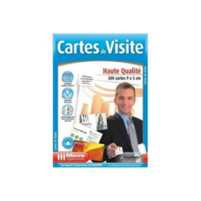 Micro Application 300 Cartes Visite Hte Qualit Papier