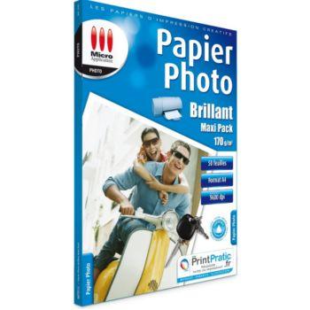Micro Application Photo Maxi Pack A4 Brillant 170g/m2 50f