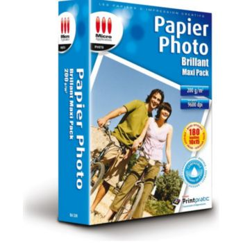 Micro Application Photo Maxi Pack 10x15 Brillant 200g 180f