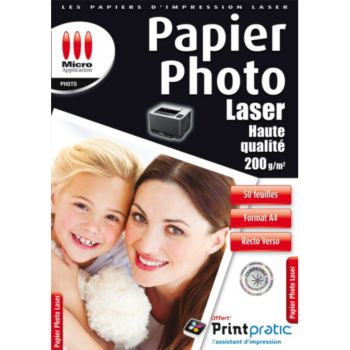 Micro Application Photo laser 200g/M2 - 50 feuilles
