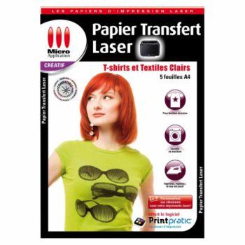 Micro Application Transfert textile Laser