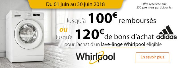 WHIRLPOOL : OFFRE SPECIALE !