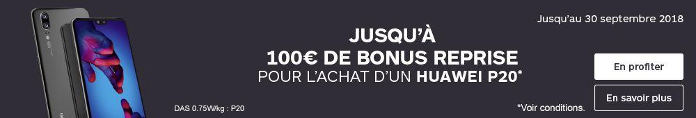 100€ de bonus reprise