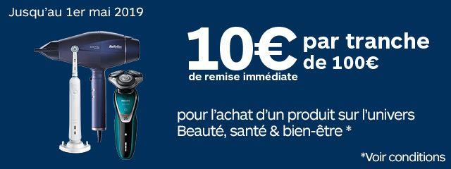 10€ par tranche de 100€