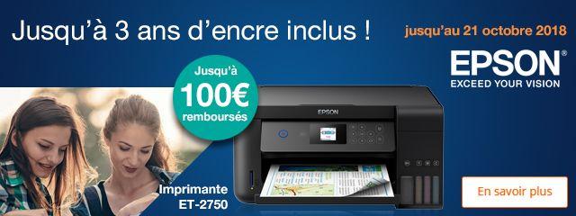 Offres imprimantes Epson