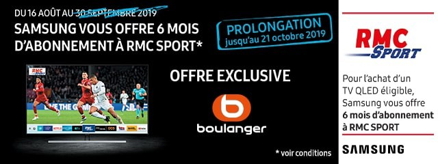 Offre Samsung RMC sport
